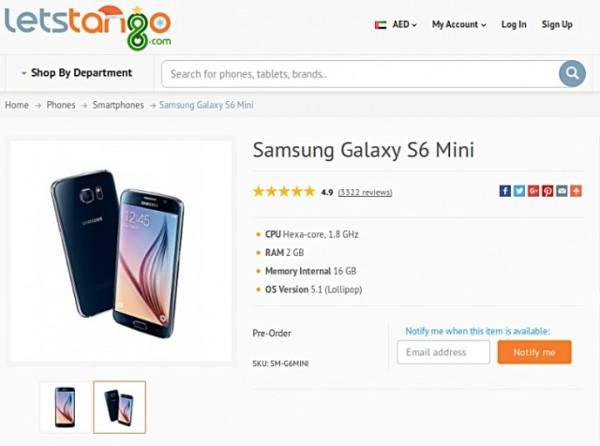 Se filtra el Galaxy S6 Mini en la web de un revendedor