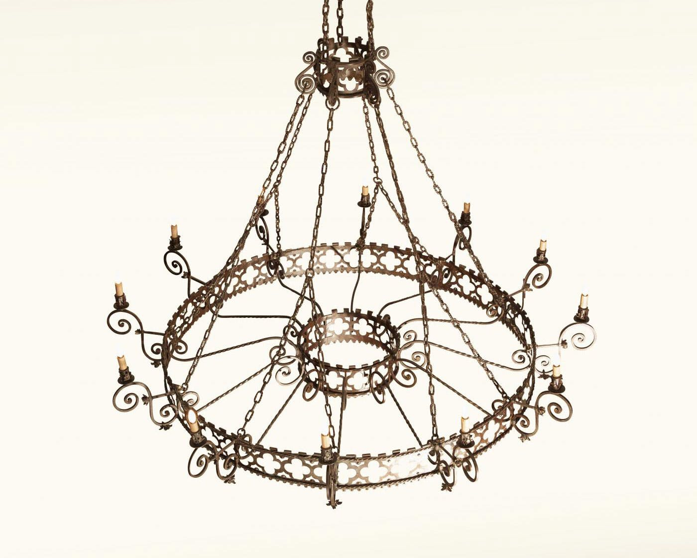 Wrought Iron Rectangular Chandelier Grand Colonial Wrought Iron Chandelier 12 Light The