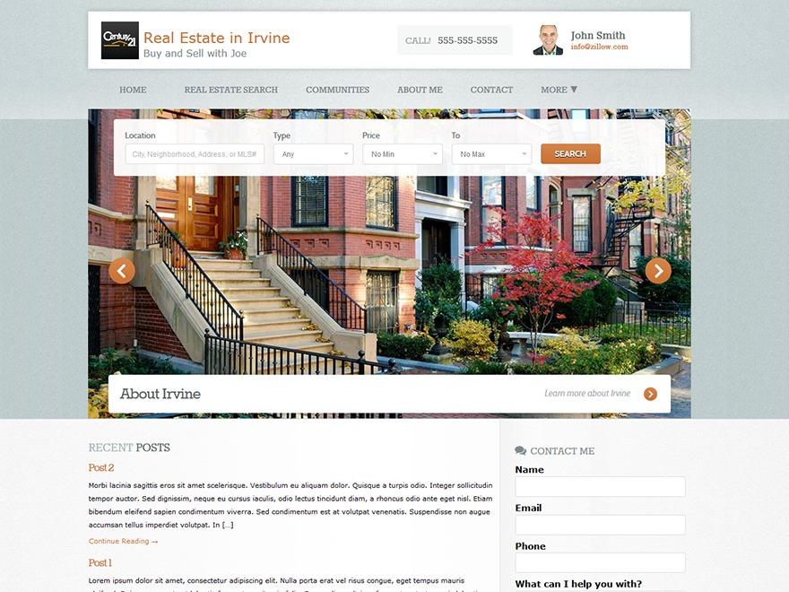 Zillow WordPress Themes - neighborhood website templates