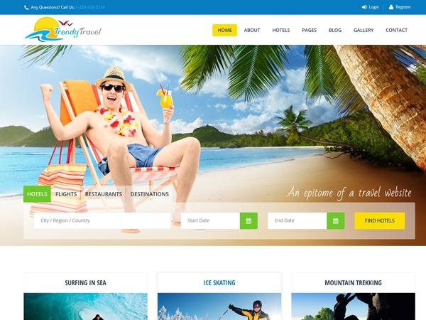Trendy Travel WordPress travel theme by designthemes