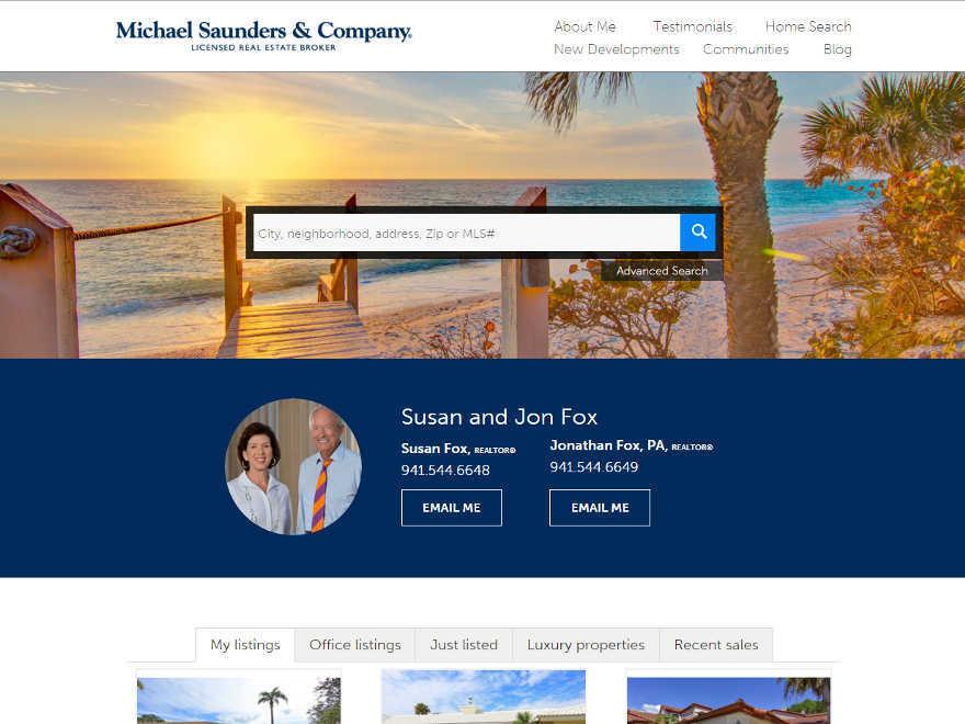 Michael Saunders  Company WordPress Themes - neighborhood website templates