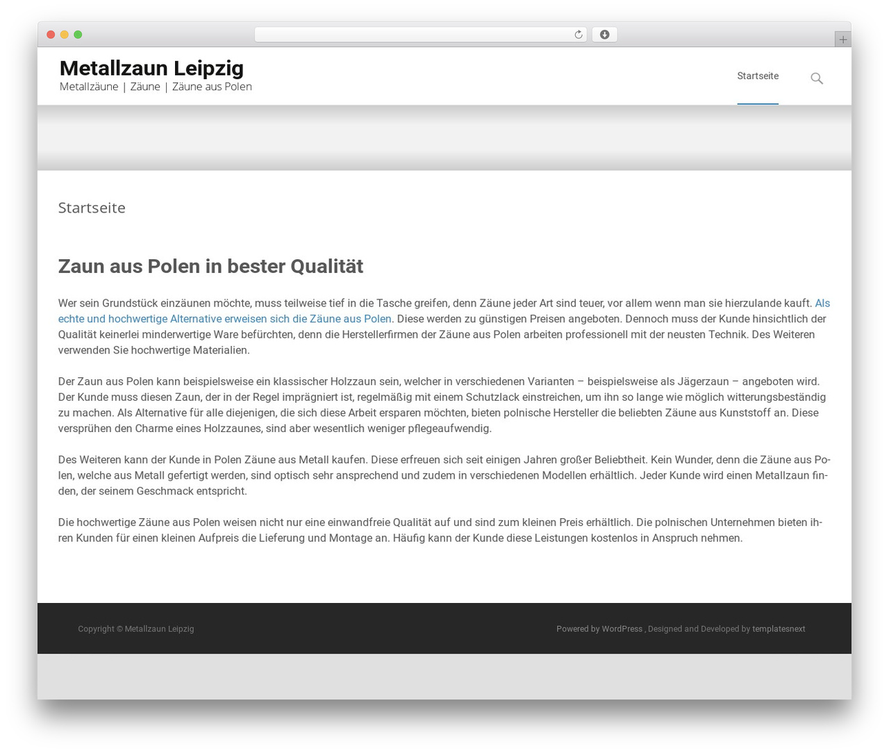 Metallzaun Aus Polen I Transform Best Wordpress Template By Templatesnext Team