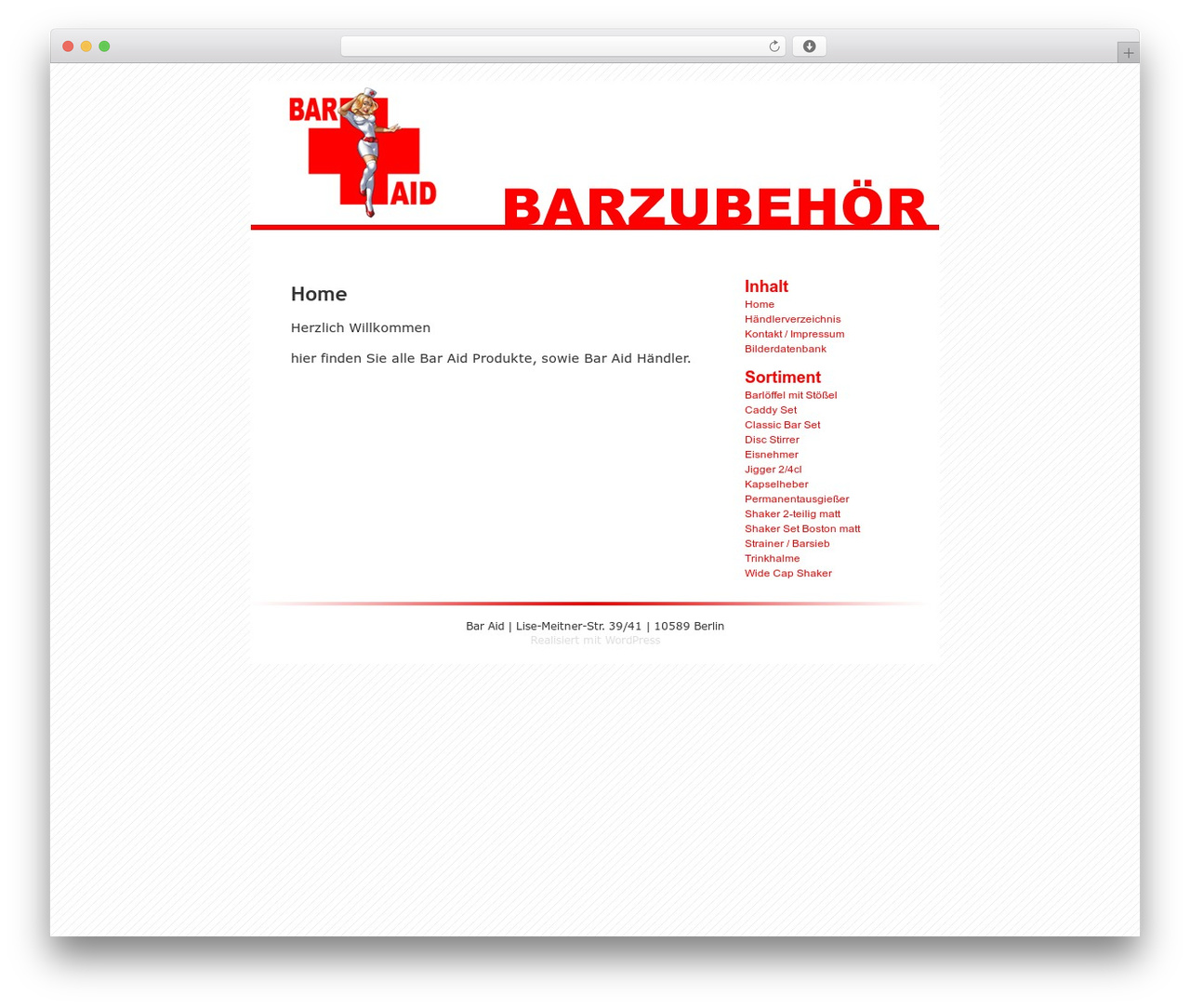 Barzubehör Hamburg Wordpress Default Wordpress Page Template By Michael Heilemann