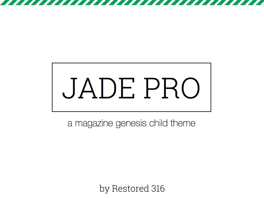 Jade Pro Child Theme WordPress website template by Restored 316