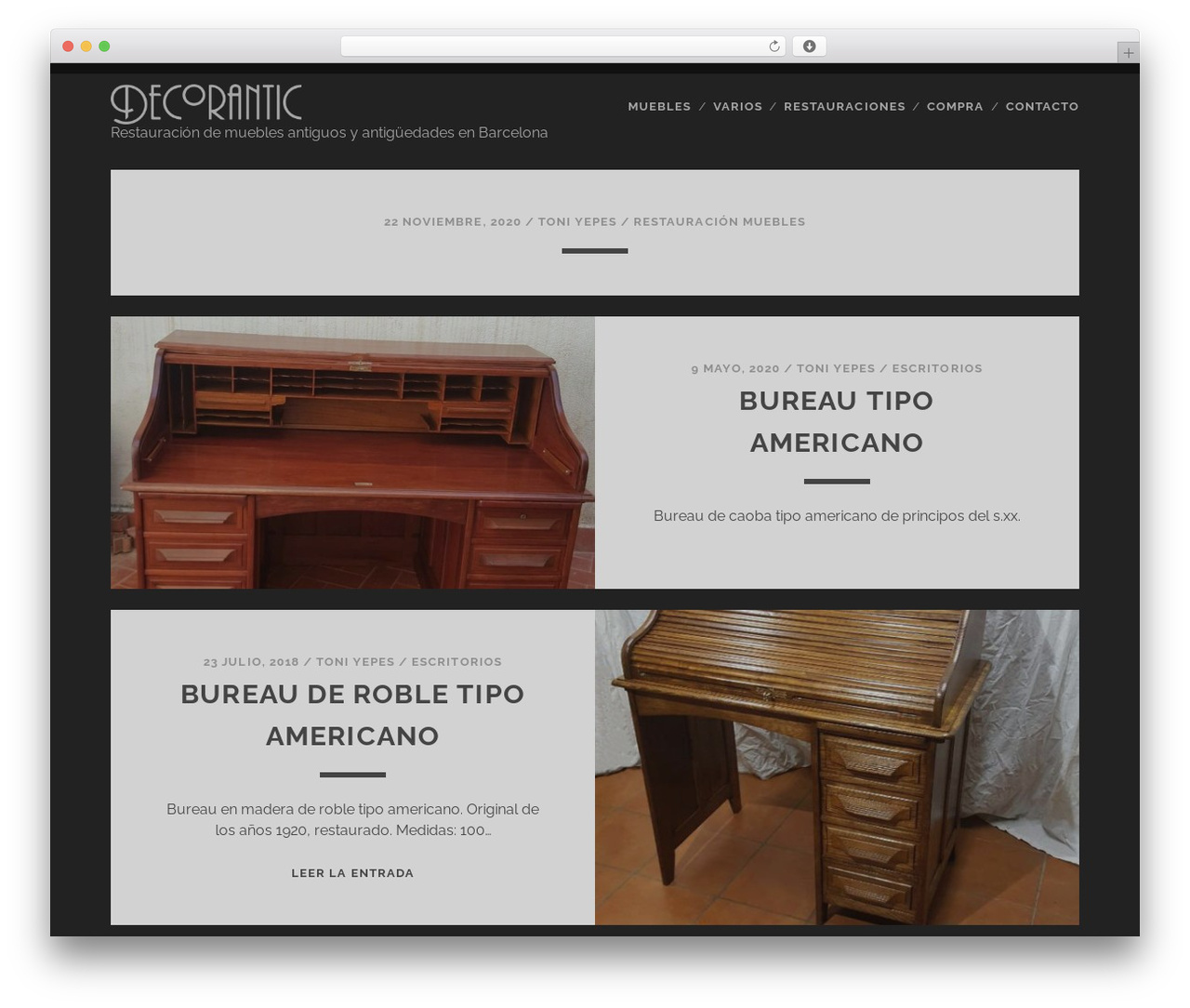 Compro Muebles Antiguos Barcelona Tracks Wordpress Theme By Compete Themes Decoranticyepes