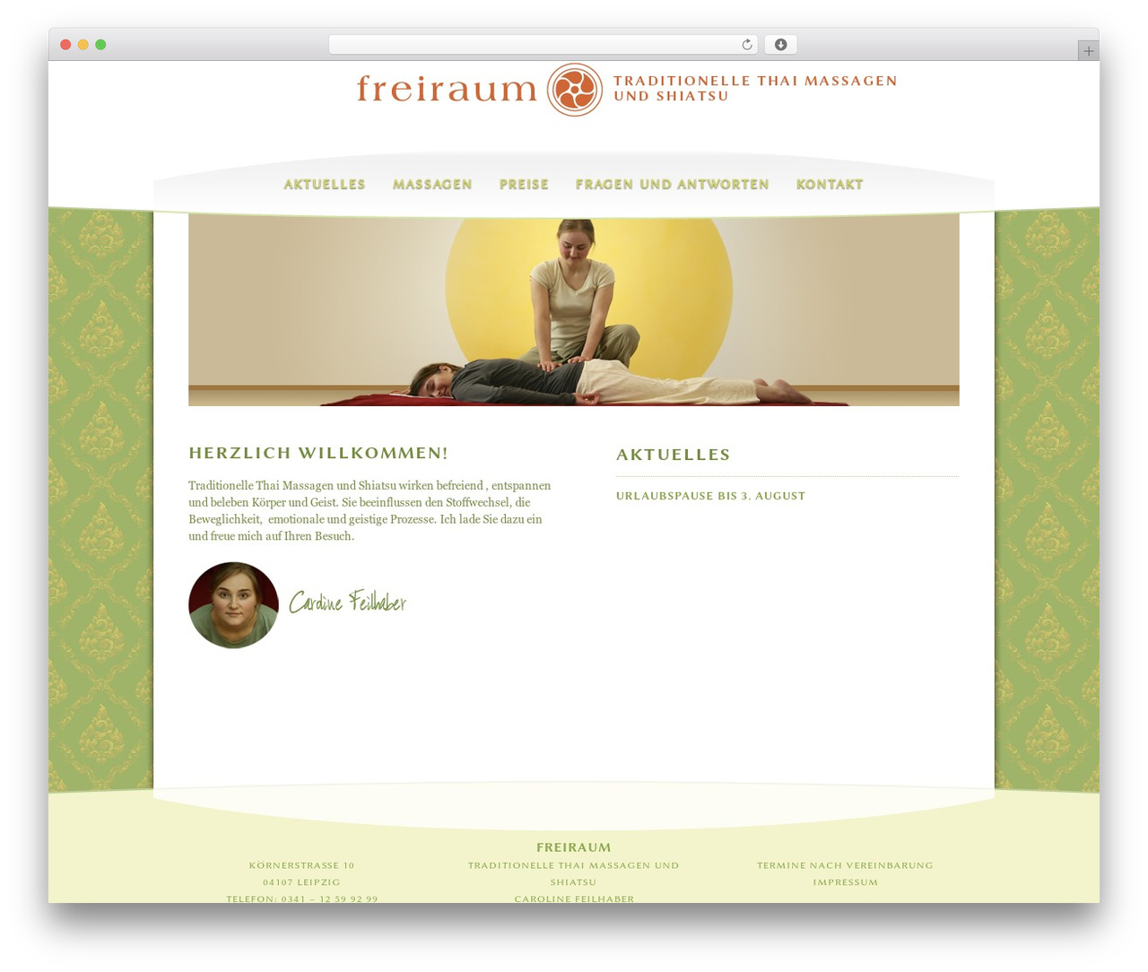 Zu Verschenken In Leipzig Reason Massage Wordpress Theme By Brandon Jones Thai Massage