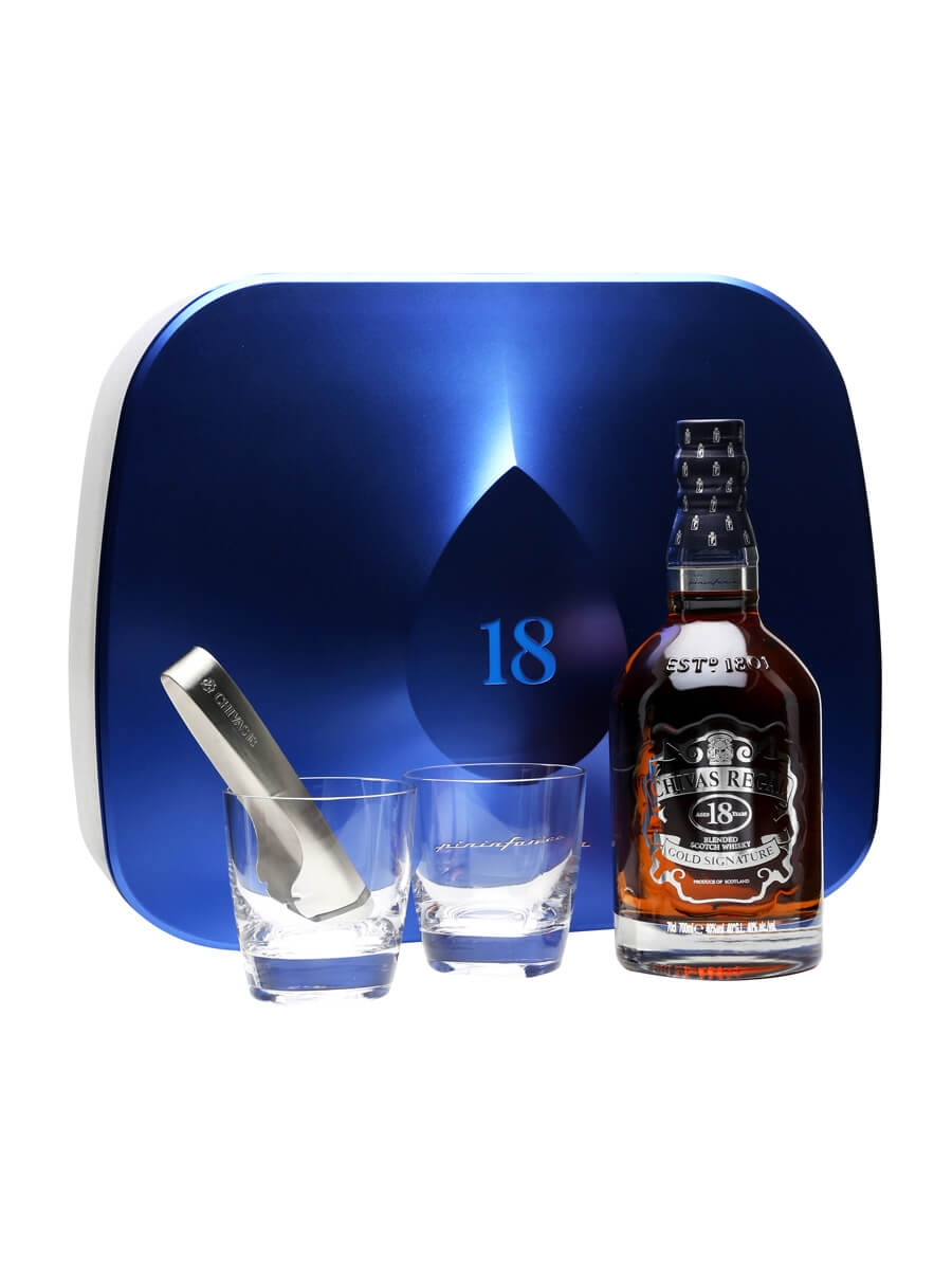 Glas Regalboden Chivas Regal 18 Year Old Pininfarina Ice Drop Glass Pack The