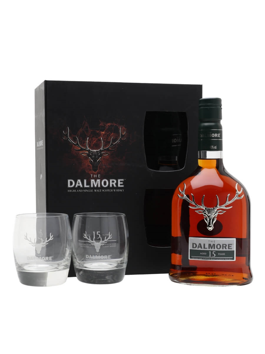 Whiskey Glazen Set Dalmore 15 Year Old - 2 Glass Pack Scotch Whisky : The