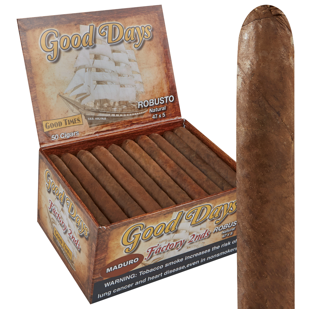 Good Days Factory Rejects Robusto Maduro Thompson Cigar