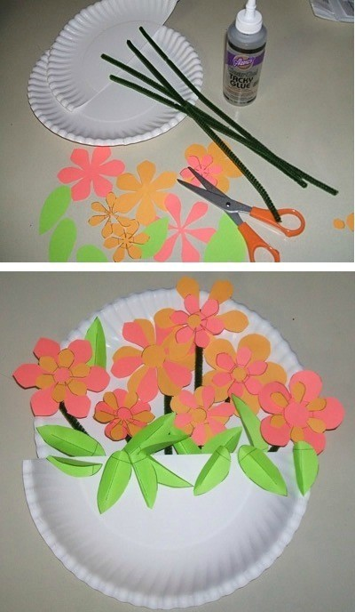 paper plate flower crafts for kids