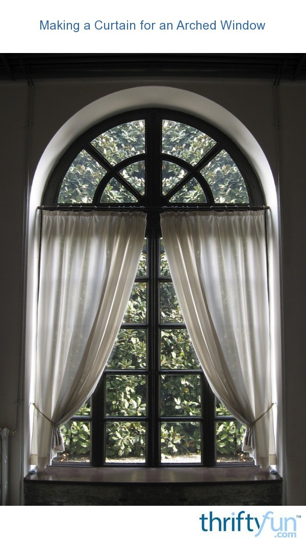 Giebelfenster Making A Curtain For An Arched Window | Thriftyfun