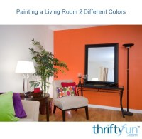Painting a Living Room 2 Different Colors | ThriftyFun