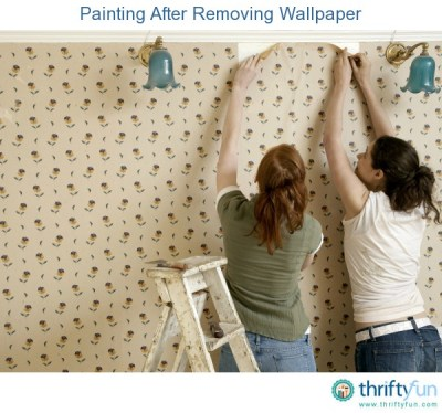 Painting After Removing Wallpaper   ThriftyFun
