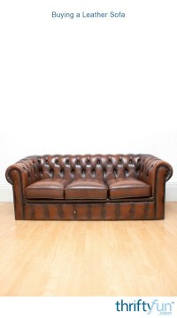 Buying a Leather Sofa | ThriftyFun