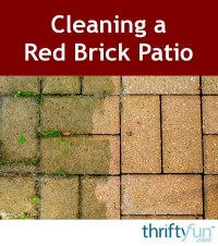 Cleaning a Red Brick Patio | ThriftyFun