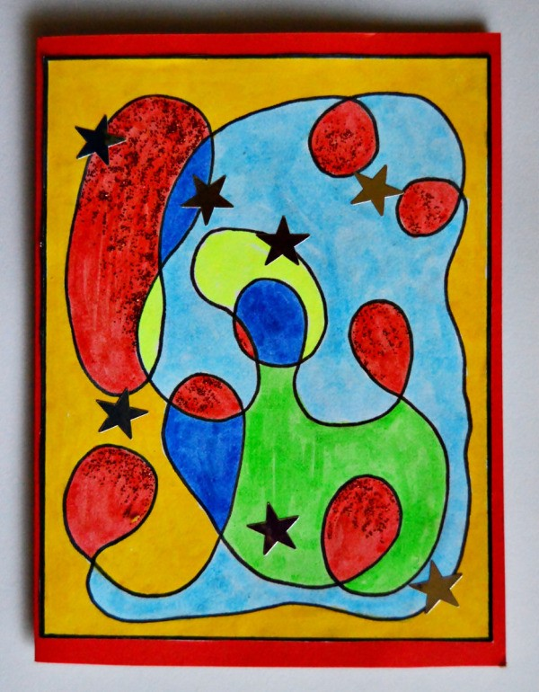 Modern Art Card Project for Kids ThriftyFun
