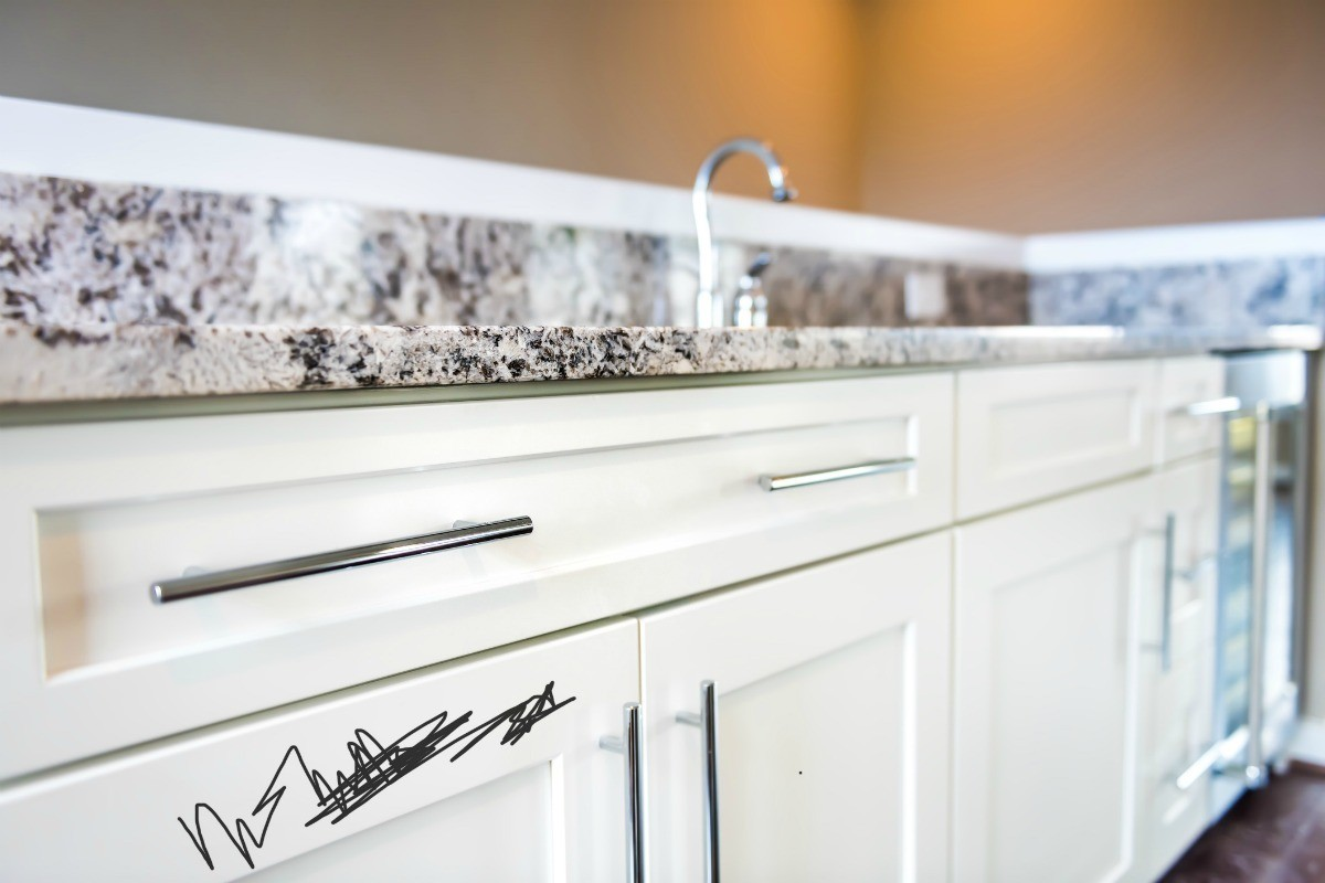 How To Remove Sharpie From Countertop Removing Sharpie From White Cabinets Thriftyfun