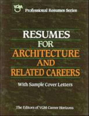 Resumes for Architecture and Related book by VGM Career Books