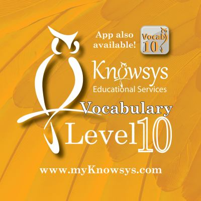 Knowsys Vocab Flashcards Level 10 book by Kevin Griffith - vocab flashcards