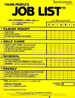 Young People\u0027s Job List A New Organizer book by Bonnie Sose