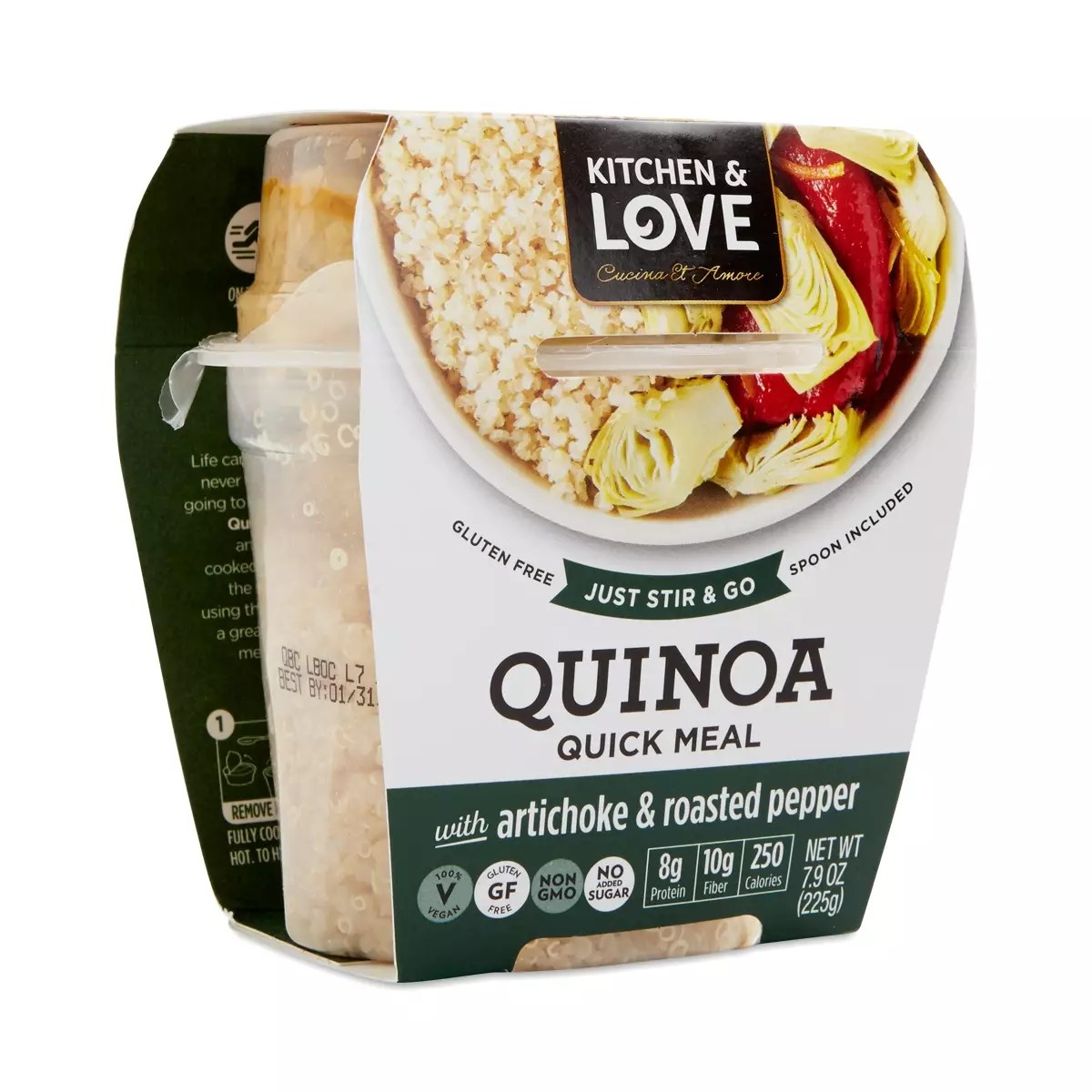 Cucina And Amore Quinoa Review Artichoke Roasted Peppers Quinoa Meal
