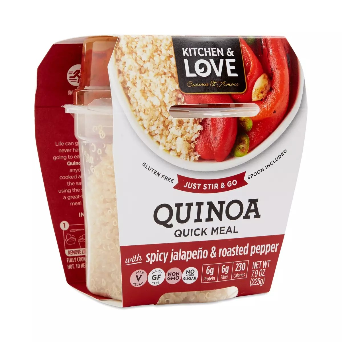 Cucina & Amore Inc Spicy Jalapeno Roasted Peppers Quinoa Meal