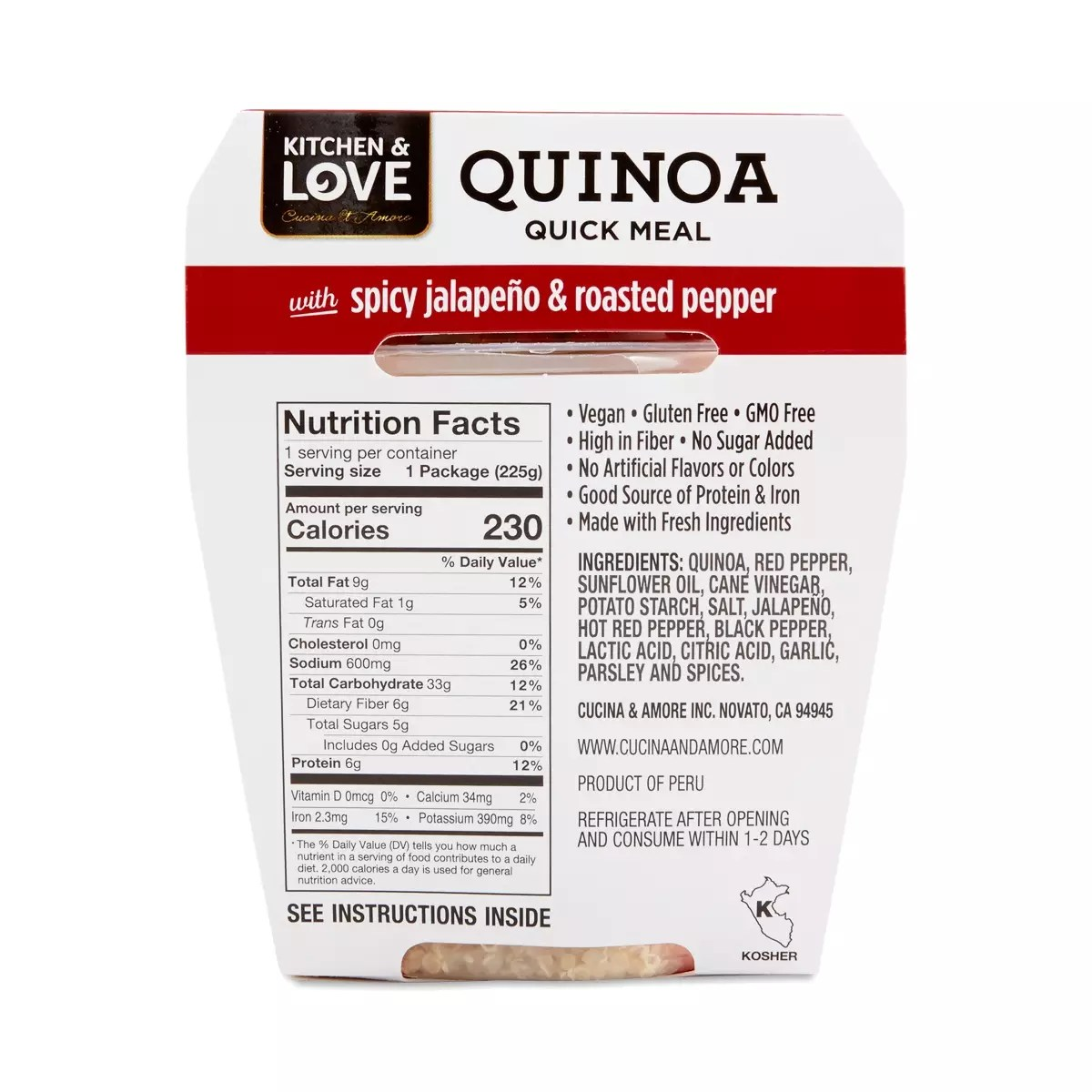 Cucina And Amore Quinoa Review Spicy Jalapeno Roasted Peppers Quinoa Meal