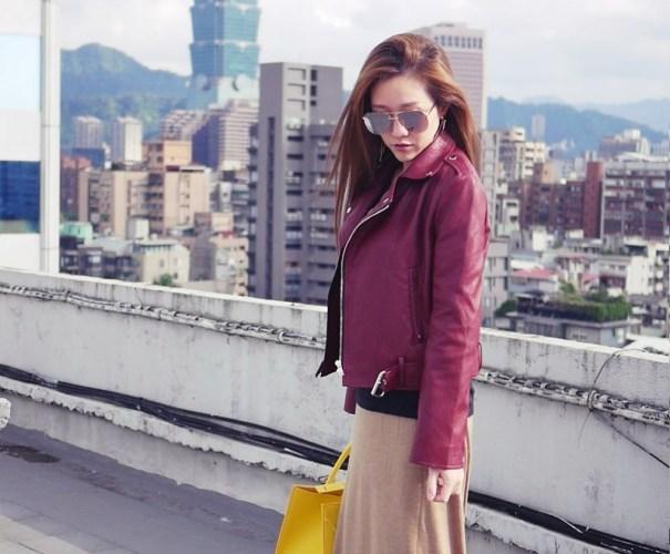 Amuishop leather jacket & skirt