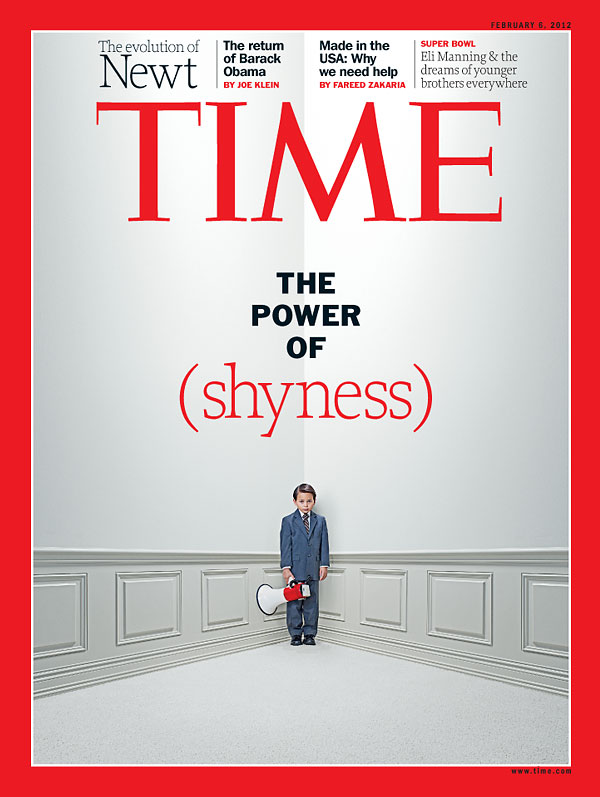 TIME Magazine Cover The Power Of Shyness - Feb 6, 2012 - Babiesblank