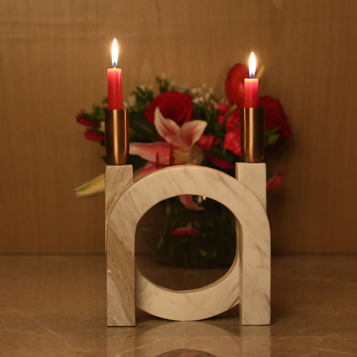 High End Housewarming Gifts Best And Cheap White Color Candlestick With Marble High U