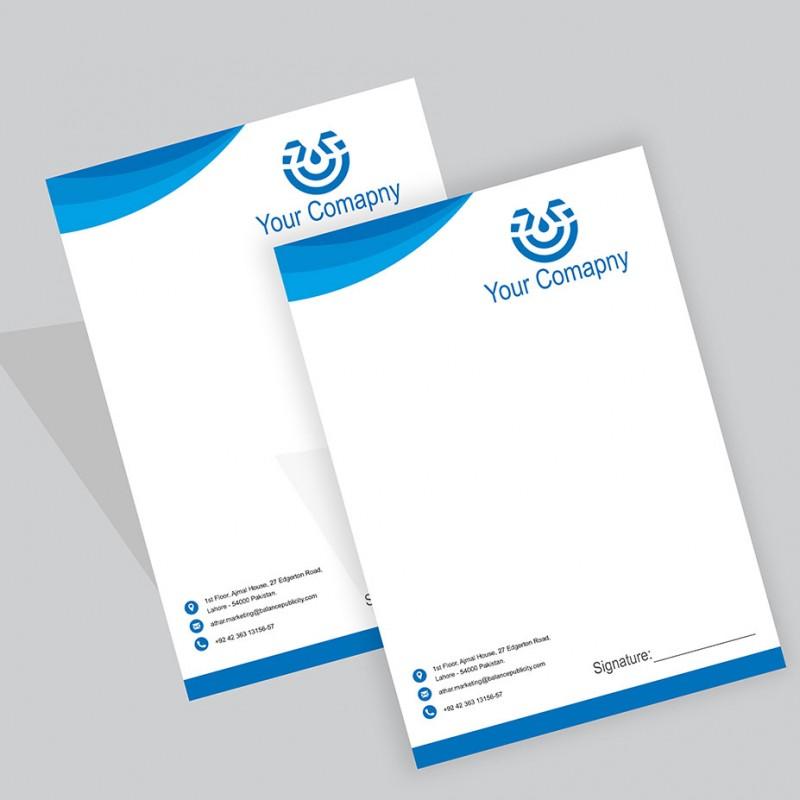 Letterhead Printing Online Pakistan Custom Business Letterhead