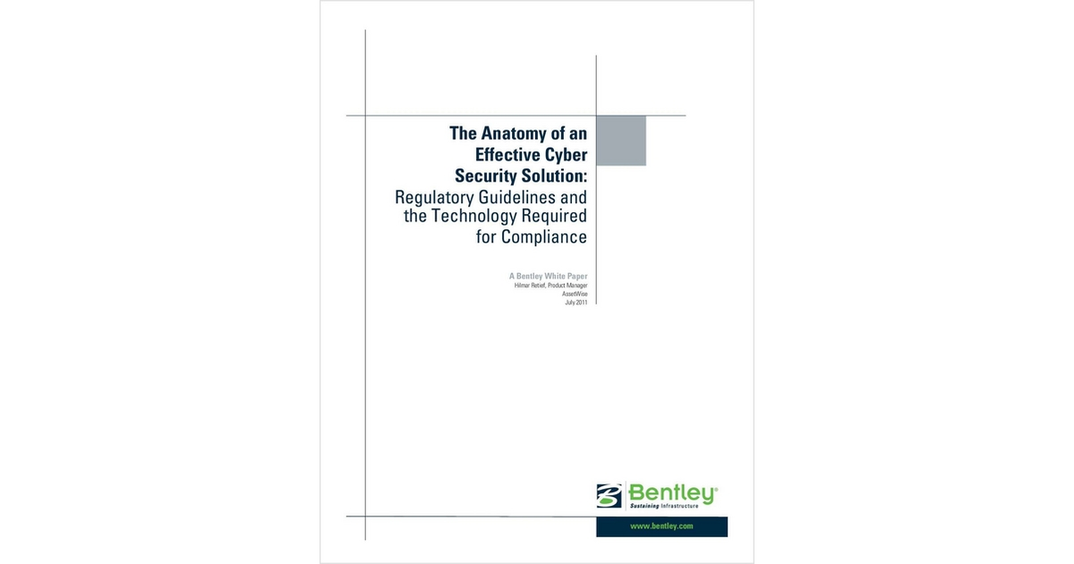 The Anatomy of an Effective Nuclear Cyber Security Solution, Free