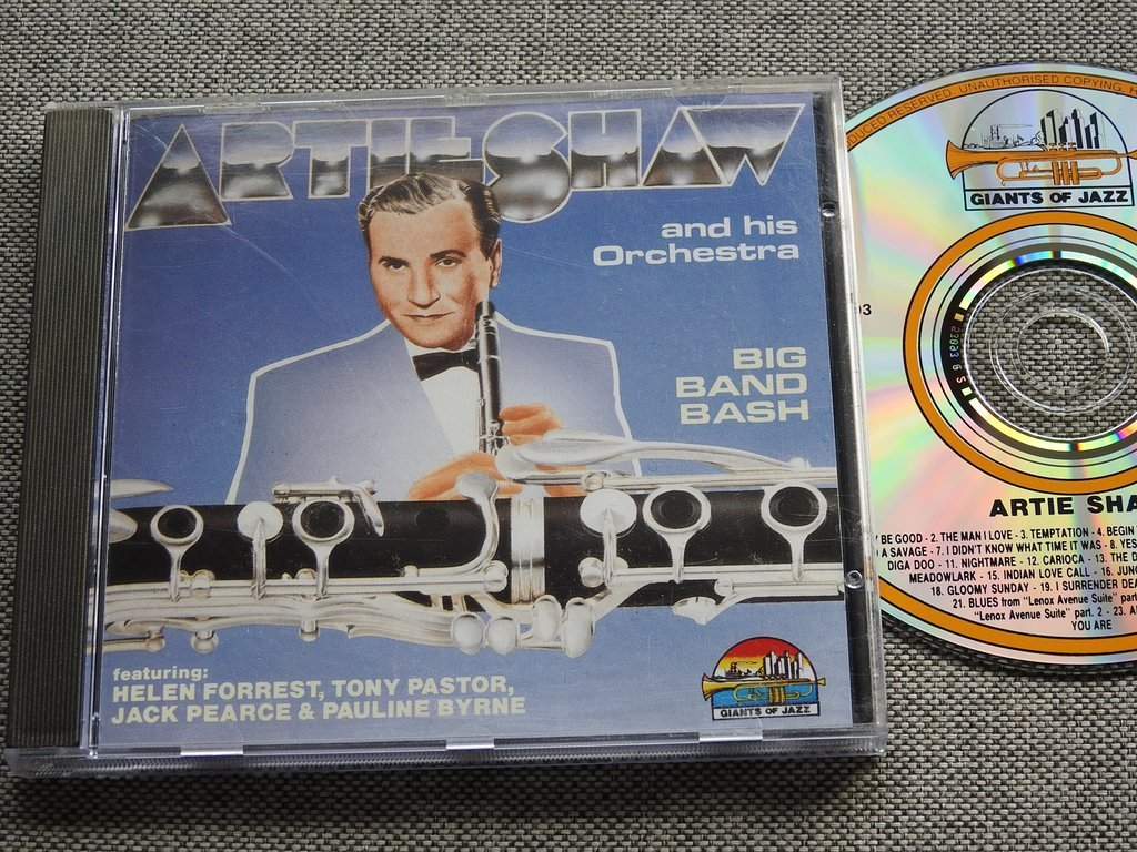 Artie Shaw Yesterdays Artie Shaw And His Orchestra Big Band Bash Cd 314981900 ᐈ