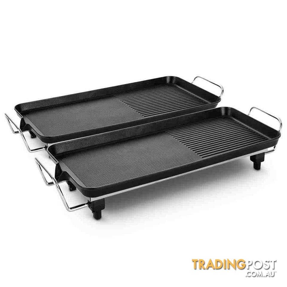 Bbqs For Sale Melbourne Soga 2x Electric Bbq Grill Teppanyaki Plate Non Stick Surface Hot