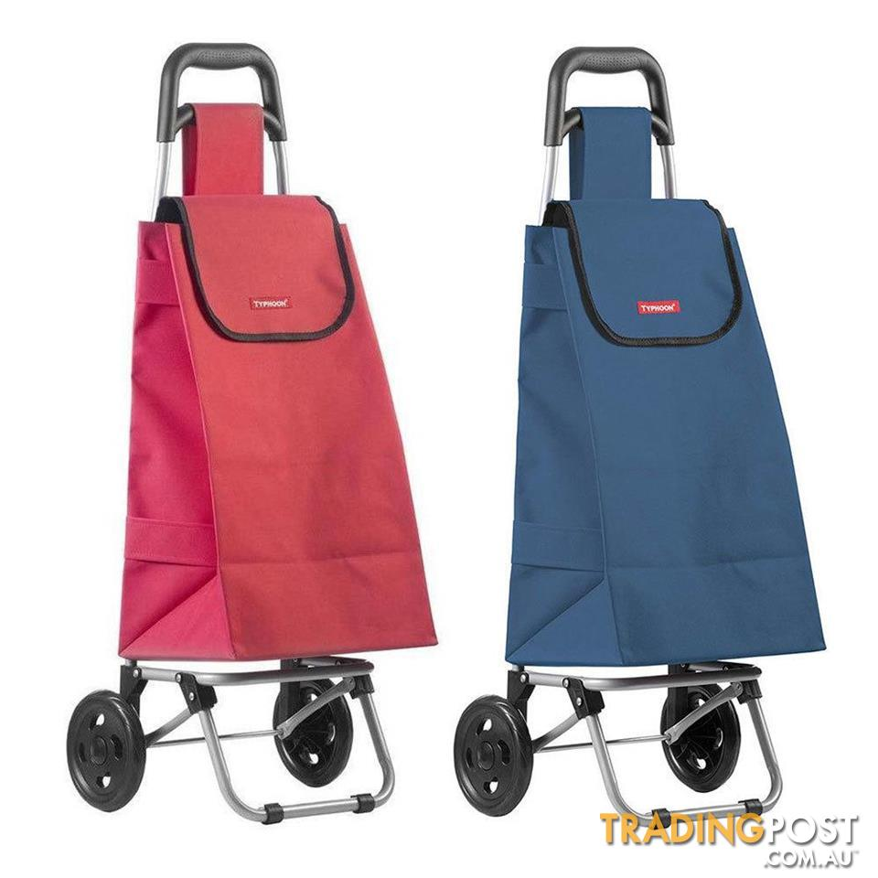 Shopping Trolley Bag On Wheels Australia Typhoon Red Navy Grocery Shopping Cart Trolley Portable Foldable
