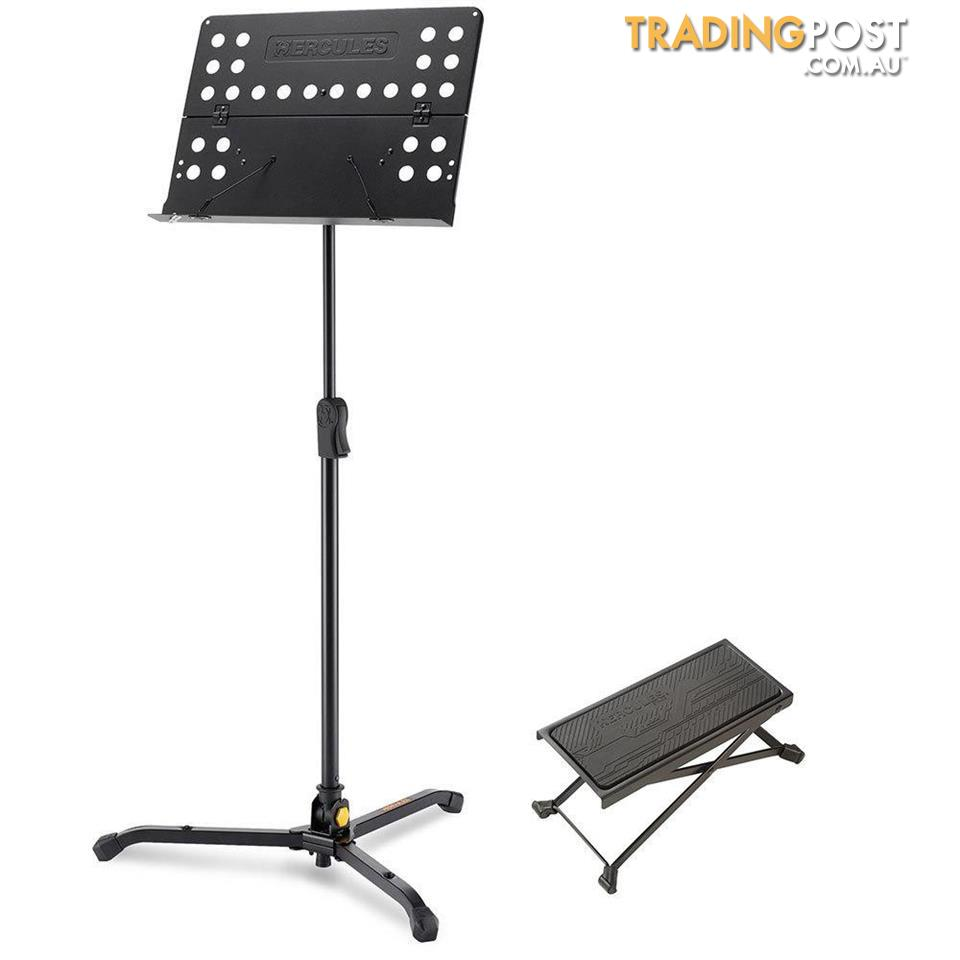 Guitar Stool Australia Hercules Tripod Orchestra Music Sheet Stand W Guitar Foot Stool