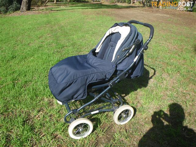 Baby Prams Vic Bertini Bidwell 4 Wheel Steerable Stroller Infant Pram