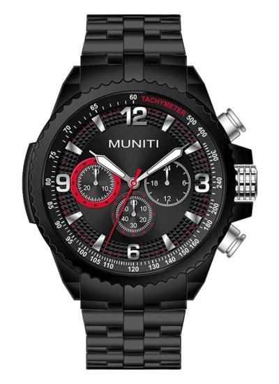 red MUNITI Fashion Sport Men Watch Life Water-resistant ...