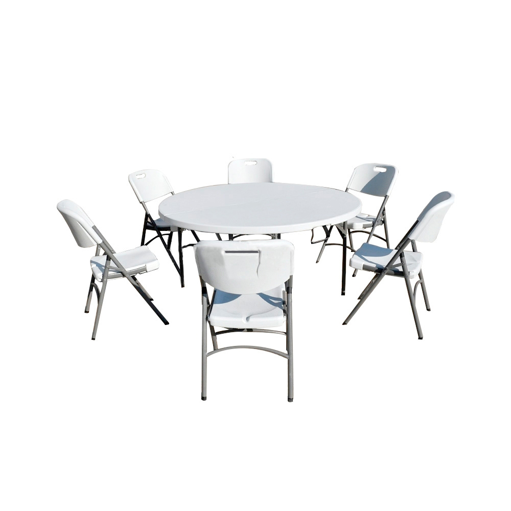 Table Ronde Jardin Metal Nur 280 00 Ensemble Table De Jardin Pliante Ronde 150cm Et 6 Chaises Pliantes Interouge