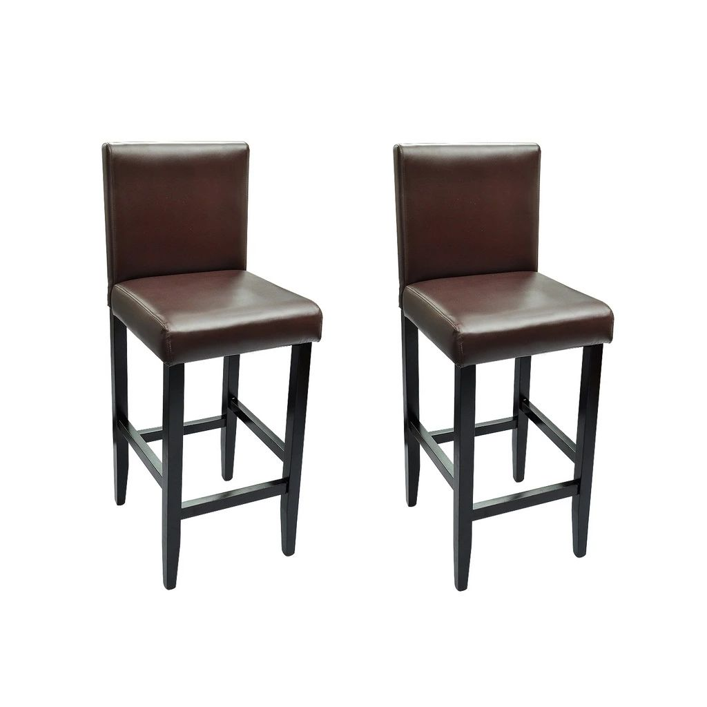 Chaise De Bar Marron Dès 119 99 Lot De 2 Chaises Bar En Bois Marron Interougehome