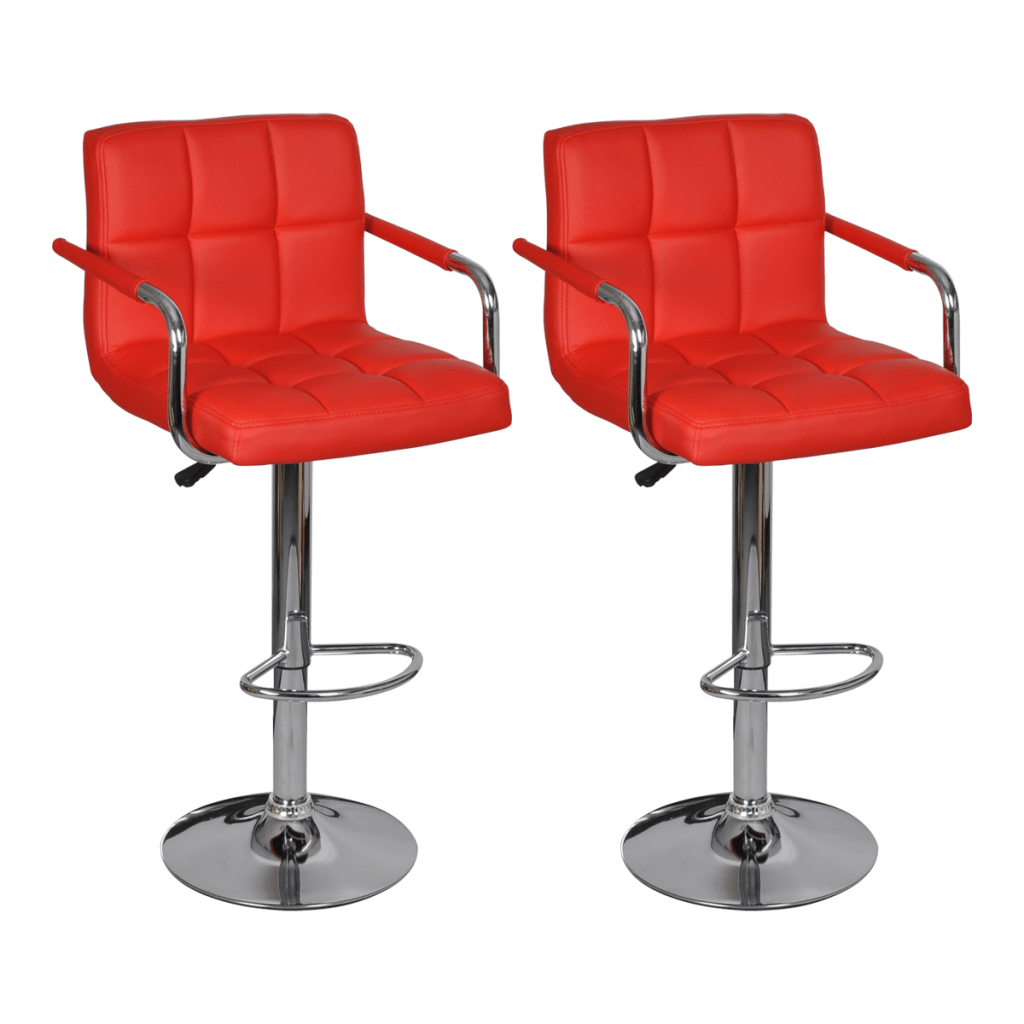 Tabourets De Bar Accoudoir Tabouret De Bar Avec Accoudoir 2 Pcs Rouge