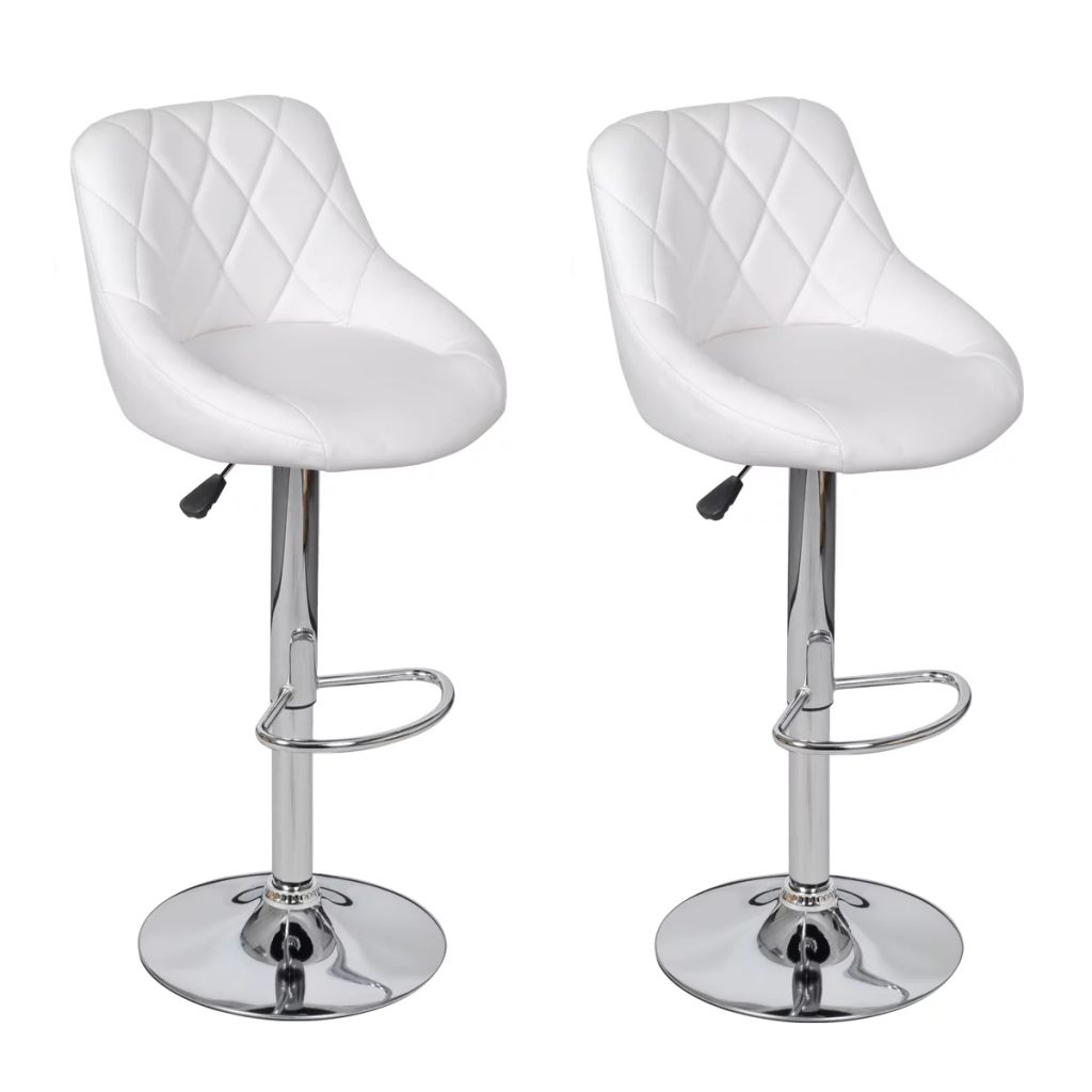 Lot De 2 Tabourets De Bar Blanc Dès 129 99 Lot De 2 Tabourets De Bar Blanc Interougehome