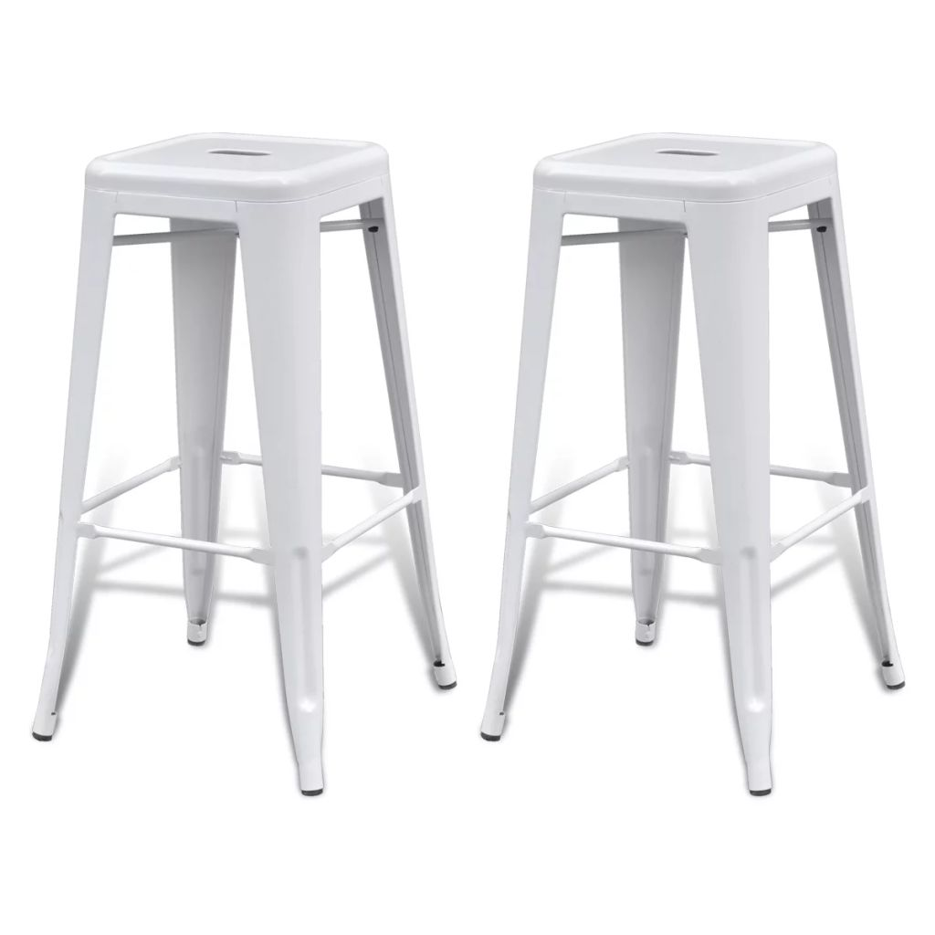 Lot De 2 Tabourets De Bar Blanc Dès 89 99 Lot De 2 Tabourets De Bar Blanc Tabouret Interougehome