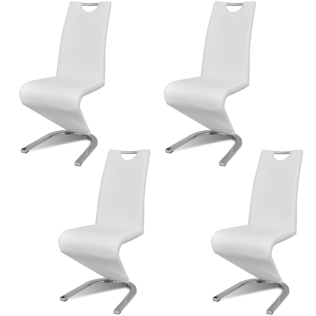 Chaise Contemporaine Cuir Salle à Manger Dès 379 99 Lot 4 Chaises Contemporaines En Simili Cuir Blanc En Lot Interougehome