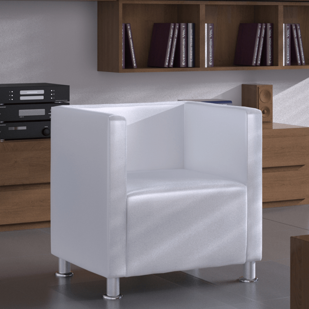 Fauteuil Club Moderne Only 91 30 Moderne En Cuir Blanc Faux Tub Design Fauteuil Club Wh Lovdock