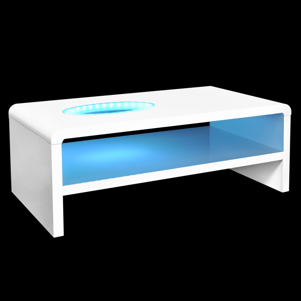 Achat Led White Coffee Table For Brilliant With Led Light 42 Cm Lovdock