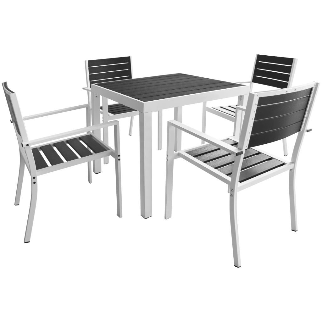 Ensemble Table Exterieur Dès 349 99 Ensemble De Table Et Chaises 4 Personnes Aluminium Interougehome