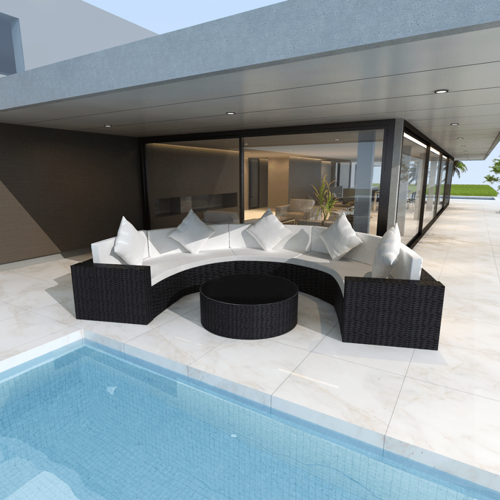 Table Lounge Garden Furniture Couch Rattan Png Download 1500 Lounge Sofa Polyrattan