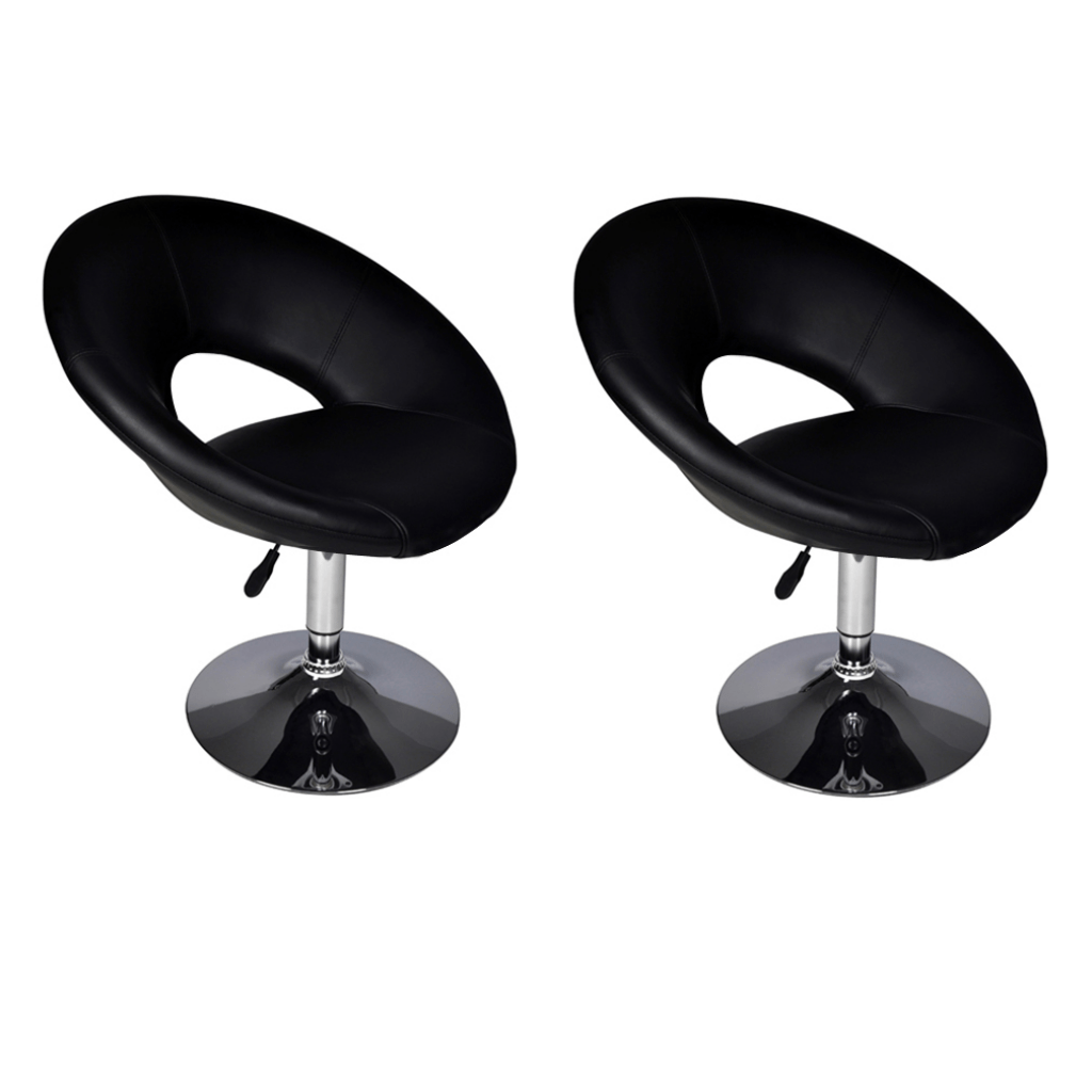Lot De 2 Fauteuils Lot De 2 Fauteuils De Bar Design Noir
