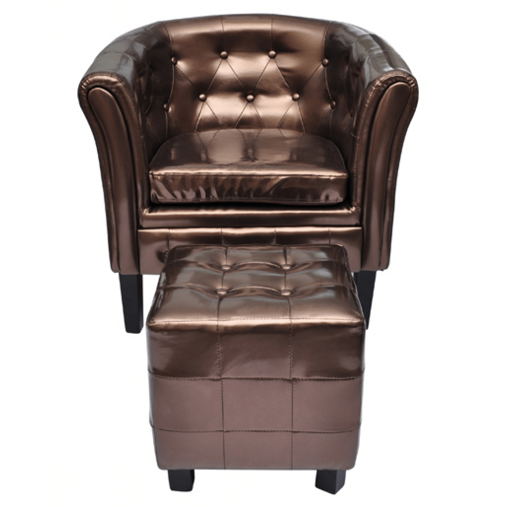 Chesterfield Sessel Nur 125 06 Chesterfield Sessel Mit Hocker Bronze Lovdock